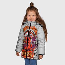 Детская зимняя куртка для девочки с принтом Freddy Pizza, цвет: 3D-черный, артикул: 10073826506065 — фото 2