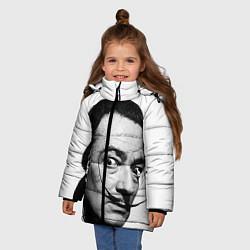 Куртка зимняя для девочки Сальвадор Дали цвета 3D-черный — фото 2