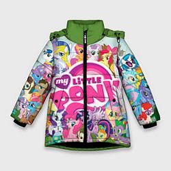Детская зимняя куртка для девочки с принтом My Little Pony, цвет: 3D-черный, артикул: 10075445006065 — фото 1