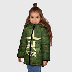 Куртка зимняя для девочки Армия России цвета 3D-черный — фото 2