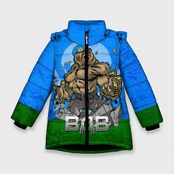 Детская зимняя куртка для девочки с принтом ВДВ, цвет: 3D-черный, артикул: 10077774806065 — фото 1