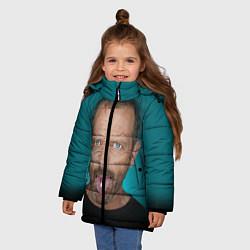 Куртка зимняя для девочки Хаус с таблеткой цвета 3D-черный — фото 2