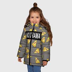 Куртка зимняя для девочки No drama цвета 3D-черный — фото 2