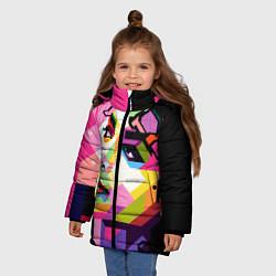 Куртка зимняя для девочки Michael Jackson Art цвета 3D-черный — фото 2