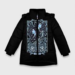 Куртка зимняя для девочки Близнецы цвета 3D-черный — фото 1