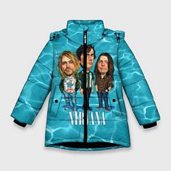 Куртка зимняя для девочки Nirvana: Water цвета 3D-черный — фото 1