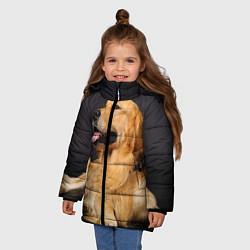 Куртка зимняя для девочки Золотистый ретривер цвета 3D-черный — фото 2