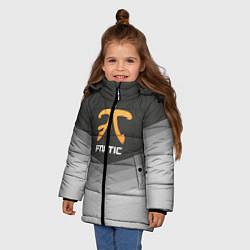 Куртка зимняя для девочки Fnatic Uniform цвета 3D-черный — фото 2