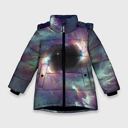 Куртка зимняя для девочки Star light space цвета 3D-черный — фото 1