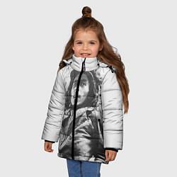 Куртка зимняя для девочки Молодой Боб Марли цвета 3D-черный — фото 2