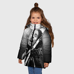 Куртка зимняя для девочки Боб Марли поет цвета 3D-черный — фото 2