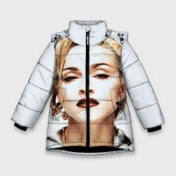 Куртка зимняя для девочки Мадонна цвета 3D-черный — фото 1