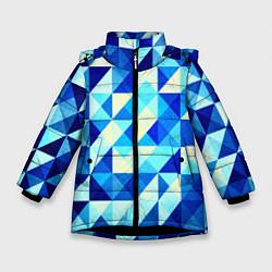 Зимняя куртка для девочки Синяя геометрия