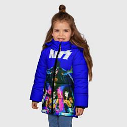 Куртка зимняя для девочки Kiss Show цвета 3D-черный — фото 2