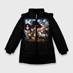 Куртка зимняя для девочки Kiss Monster цвета 3D-черный — фото 1