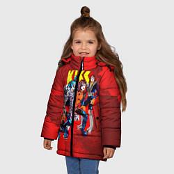 Куртка зимняя для девочки KISS: Hot Blood цвета 3D-черный — фото 2
