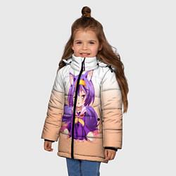 Куртка зимняя для девочки No Game No Life цвета 3D-черный — фото 2