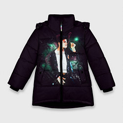 Куртка зимняя для девочки Michael Jackson цвета 3D-черный — фото 1