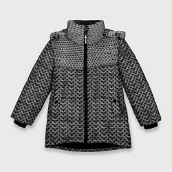 Куртка зимняя для девочки Кольчуга цвета 3D-черный — фото 1