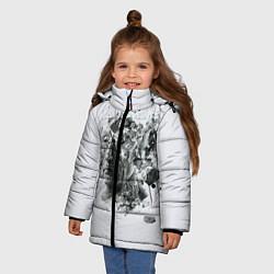 Куртка зимняя для девочки Saw Abstract цвета 3D-черный — фото 2