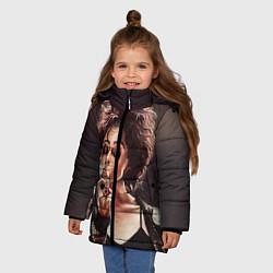 Куртка зимняя для девочки Марла с сигаретой цвета 3D-черный — фото 2
