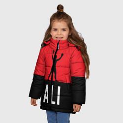 Куртка зимняя для девочки Ali Boxing цвета 3D-черный — фото 2