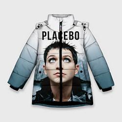 Куртка зимняя для девочки Placebo: Brian Molko цвета 3D-черный — фото 1