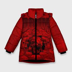Куртка зимняя для девочки DOOM: Monster цвета 3D-черный — фото 1