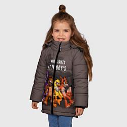 Детская зимняя куртка для девочки с принтом Five Nights At Freddy's, цвет: 3D-черный, артикул: 10093561406065 — фото 2