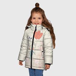 Куртка зимняя для девочки Муж с шариками цвета 3D-черный — фото 2
