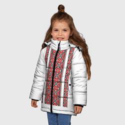 Куртка зимняя для девочки Вышивка 13 цвета 3D-черный — фото 2