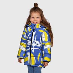 Куртка зимняя для девочки Волейбол 6 цвета 3D-черный — фото 2