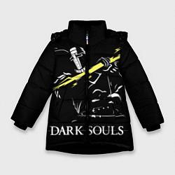 Куртка зимняя для девочки Dark Souls цвета 3D-черный — фото 1