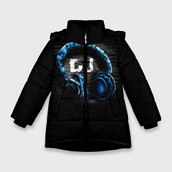 Детская зимняя куртка для девочки с принтом DJ, цвет: 3D-черный, артикул: 10095740606065 — фото 1