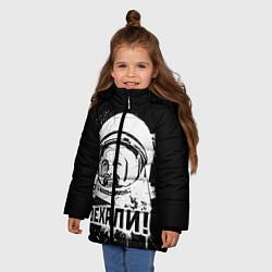 Куртка зимняя для девочки Поехали! цвета 3D-черный — фото 2
