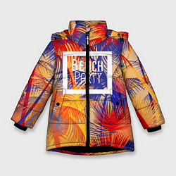Куртка зимняя для девочки Beach Party цвета 3D-черный — фото 1