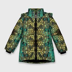 Куртка зимняя для девочки Крокодил - фото 1