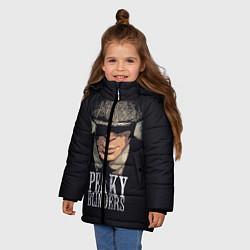 Куртка зимняя для девочки Peaky Blinders цвета 3D-черный — фото 2