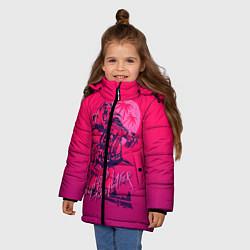 Куртка зимняя для девочки We grab pizza later цвета 3D-черный — фото 2