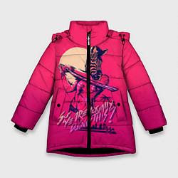 Куртка зимняя для девочки So we are actually doing this? цвета 3D-черный — фото 1