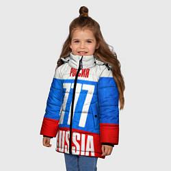 Детская зимняя куртка для девочки с принтом Russia: from 777, цвет: 3D-черный, артикул: 10097333606065 — фото 2