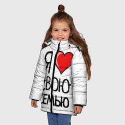 Куртка зимняя для девочки Family Look цвета 3D-черный — фото 2