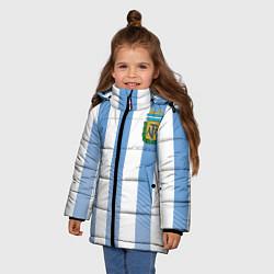 Куртка зимняя для девочки Сборная Аргентины: ЧМ-2018 цвета 3D-черный — фото 2