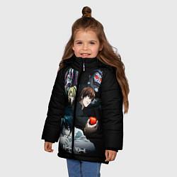 Куртка зимняя для девочки Тетрадь смерти 1 цвета 3D-черный — фото 2