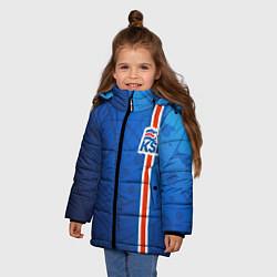 Куртка зимняя для девочки Сборная Исландии по футболу цвета 3D-черный — фото 2