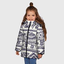 Куртка зимняя для девочки Африка цвета 3D-черный — фото 2
