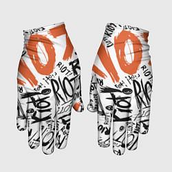 Перчатки Paramore: Riot цвета 3D-принт — фото 1
