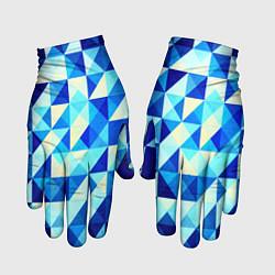 Перчатки Синяя геометрия