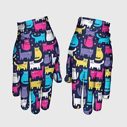 Перчатки Котятки цвета 3D — фото 1