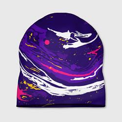 Шапка Фиолетовый акрил цвета 3D — фото 1